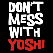 Don't Mess With Yoshi V-Ausschnitt T-Shirt