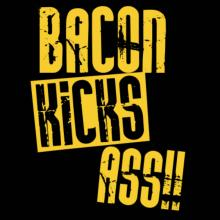 Bacon Kicks Ass!! Frauen T-Shirt
