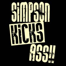 Simpson Kicks Ass!! Langarm T-Shirt