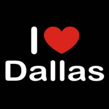 I Love Dallas Langarm T-Shirt