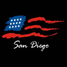 San Diego - Us Flag T-Shirt
