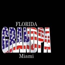 Grandpa Miami - Us Flag T-Shirt