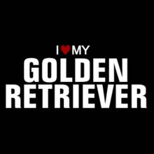 I Love My Golden Retriever Langarm T-Shirt