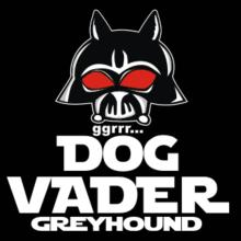Dog Vader : Greyhound Langarm T-Shirt