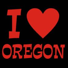 I Love Oregon V-Ausschnitt T-Shirt