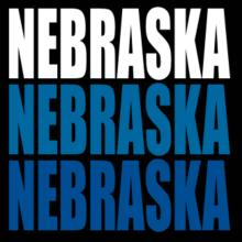 Triple Color Nebraska V-Ausschnitt T-Shirt