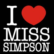 I Love Ms Simpson Langarm T-Shirt