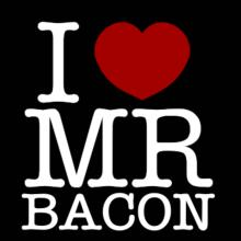 I Love Mr Bacon Langarm T-Shirt