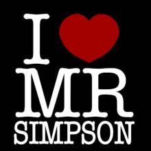 I Love Mr Simpson Langarm T-Shirt