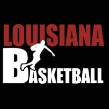 Louisiana All B-asketball V-Ausschnitt T-Shirt