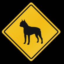 Sign Boston Terrier - Crossing Sign Langarm T-Shirt