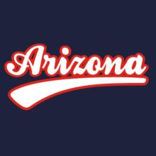 Retro Arizona V-Ausschnitt T-Shirt