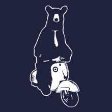 Bear With Tie On Scooter Raglan T-Shirt
