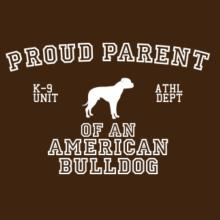 Proud Parent Of American Bulldog Langarm T-Shirt