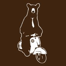 Bear With Tie On Scooter T-Shirt