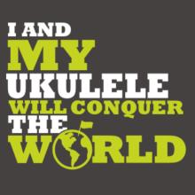 I And My Ukulele Will Conquer The World Raglan T-Shirt