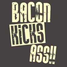 Bacon Kicks Ass!! Frauen Raglan T-Shirt