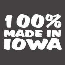 100% Made In Iowa V-Ausschnitt T-Shirt