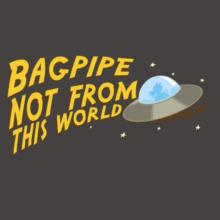 Bagpipe Not From This World Raglan T-Shirt