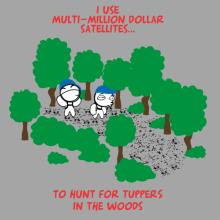 Geocaching, Looking for Tupperware 2 T-Shirt