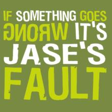 If Something Goes Wrong, It's Jase's Fault V-Ausschnitt T-Shirt