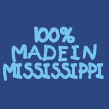 100 % Made In Mississippi V-Ausschnitt T-Shirt