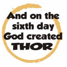 And On The Sixth Day God Created Thor V-Ausschnitt T-Shirt