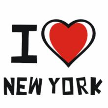 I Love New York V-Ausschnitt T-Shirt
