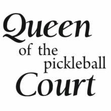 Queen of the Pickleball court Hoodie