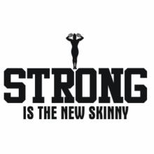 Strong is the new skinny Bodybuilding Hoodie