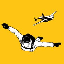Skydiving Silhouette Stofftasche