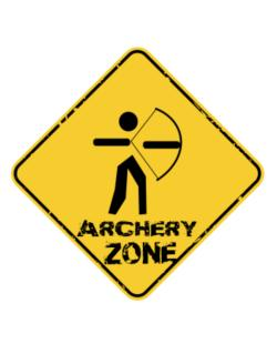 Old School Archery Usa Embroidery Crossing Sign