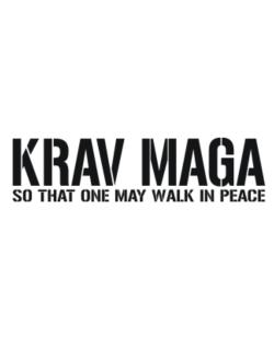 Krav Maga Walk in peace Crossing Sign