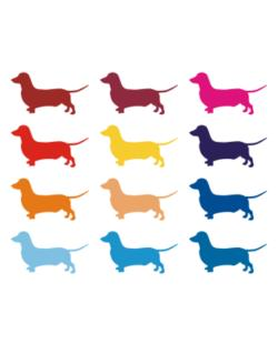 Crossing Sign de Colorful Dachshund