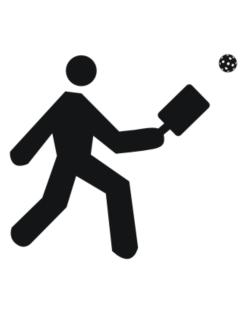 Pickleball Stickman Crossing Sign