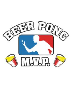 Beer Pong MVP Crossing Sign