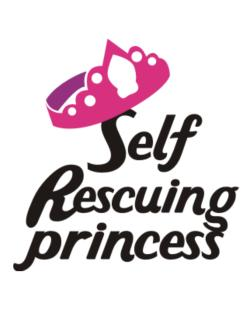 Self Rescuing Princess  Crossing Sign