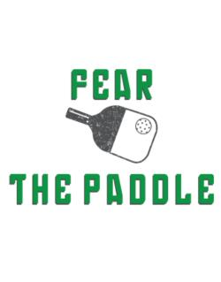 Fear the Paddle Pickleball Crossing Sign