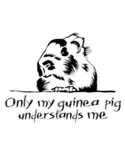 Crossing Sign de Only my guinea pig understands me