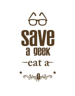 Save a geek Crossing Sign
