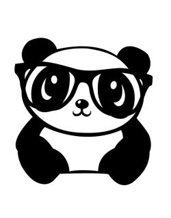 Crossing Sign de Hipster baby panda