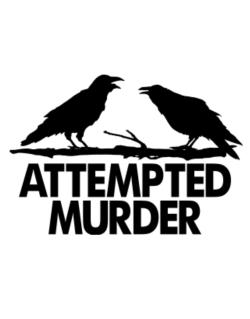 Crows Attempted Murder Crossing Sign