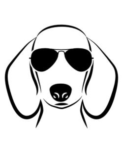 Crossing Sign de Dachshund Sunglasses