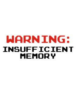Warning insufficient memory Crossing Sign