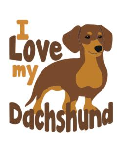 I love my dachshund Crossing Sign