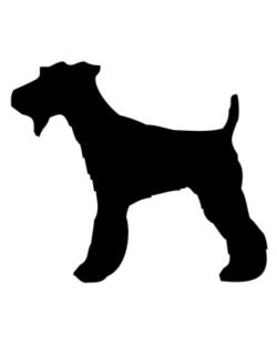 Fox Terrier silhouette Crossing Sign