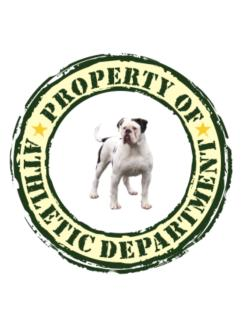 """ PROPERTY OF American Bulldog ATHLETIC DEPARTMENT TRANSFER "" Parking Sign"