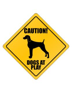 "Parking Sign de "" Dogs at play Weimaraner """
