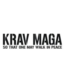 Krav Maga Walk in peace Parking Sign