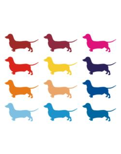 Parking Sign de Colorful Dachshund